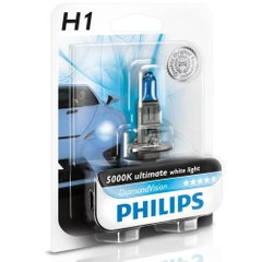 Лампа галогенна Philips H1 Diamond Vision 5000K 12258DVB1