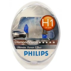 Лампа галогенна Philips H1 Diamond Vision 5000K 12258DVS2