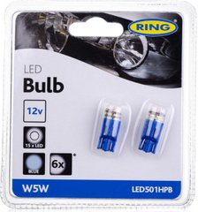 LED Габариты Ring High Power T10 (501) Wedge High Power Blue LED501HPB (7658)