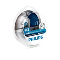 Лампа галогенна Philips H3 Diamond Vision 5000K 12336DVS2