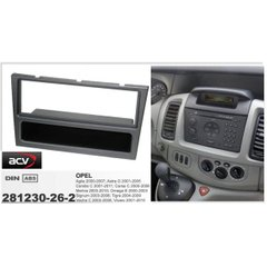 Рамка переходная ACV 281230-26-2 Opel Corsa D (06->) Color Elegance (stealth-black)
